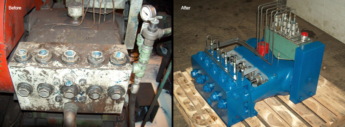 Pump Cleanup - Before and After
